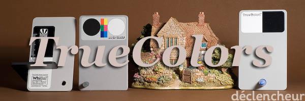 Comparaison TrueColors, WhiBal et Digi Grey : TrueColors comme référence