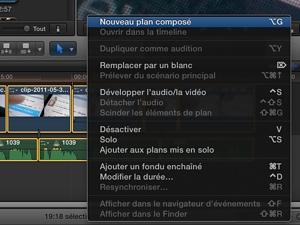 Final Cut Pro X : pas de pistes mais des plans composés